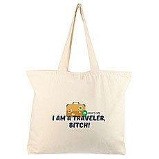 Холщовая Сумка Большая Maps.me I'm A Traveler Неокрашенная