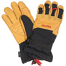 Перчатки сноубордические Marmot Ultimate Ski Glove Black/Tan
