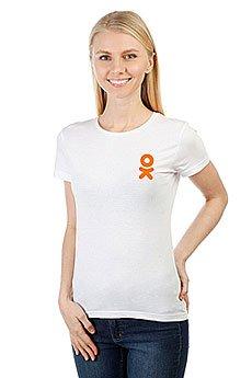 Футболка женская классическая Одноклассники Logo Белая