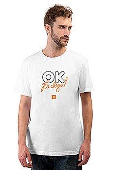 Футболка классическая Одноклассники Logo OK Сonnected Белая