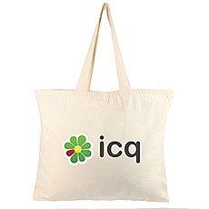 Холщовая сумка Большая ICQ Logo Неокрашенная