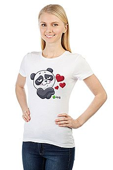 Футболка женская классическая ICQ Lovingpanda Белая