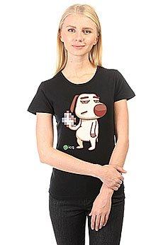 Футболка женская классическая ICQ Fckdog Черная