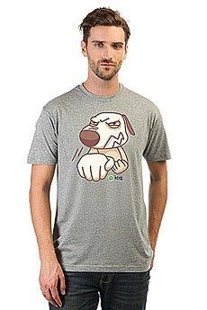 Футболка классическая ICQ Fightdog Серая