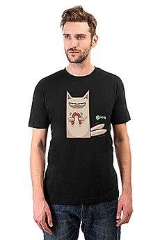 Футболка классическая ICQ Angrycat Черная