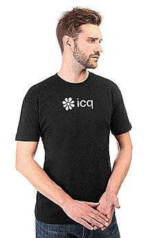 Футболка классическая ICQ Logo Черная