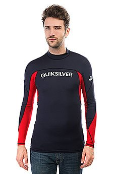 Гидрофутболка Quiksilver Performer Long Navy Blazer/Quik Red