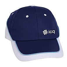 Бейсболка классическая ICQ Draw Logo Темно-Синий/Белый