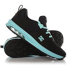 Кроссовки женские DC Shoes Heathrow Ia Black/Aqua