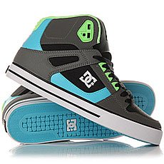 Кеды высокие DC Spartan High Wc Grey/Green/Blue