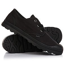 Ботинки низкие женские Palladium Pampa Oxford Lp Black