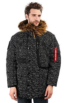 Куртка парка K1X X Alpha Polar Jacket Black/White Speckles