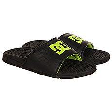Шлепанцы DC Shoes Bolsa Black/Lime