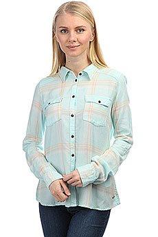 Рубашка в клетку женская Roxy Plaidonyou Bleached Aqua Leti P
