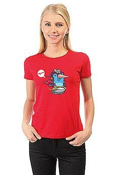 Футболка женская классическая My.com Ping Красная