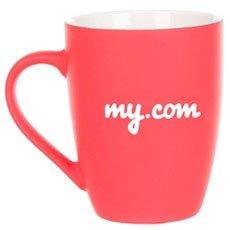 Кружка My.com Good Morning Logo C Прорезиненным Покрытием Красная