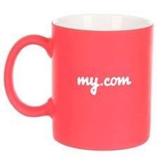 Кружка My.com C Прорезиненным Покрытием Красная