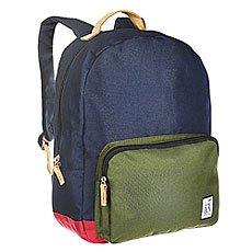 Рюкзак городской The Pack Society Classic Backpack Midnight Blue/Forest Green/Burgundy-26