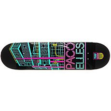 Дека для скейтборда Trap PE CITY SERIES DECK Black/Pink/Light Blue 32 x 8.125 (20.6 см)