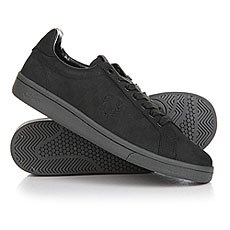 Кеды низкие Fred Perry Checkerboard Nubuck Black