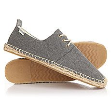 Эспадрильи Soludos Derby Lace Up Washed Canvas Dark Gray