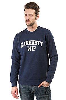 Толстовка классическая Carhartt WIP Sporty Sweatshirt Blue/White