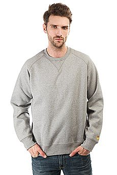Толстовка свитшот Carhartt WIP Chase Sweatshirt Grey Heather