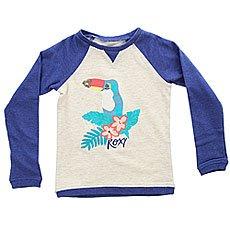 Толстовка свитшот детская детская Roxy Myarmsaroundyou Royal Blue Heather