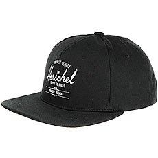 Бейсболка с прямым козырьком Herschel Whaler Black