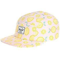 Бейсболка пятипанелька детский Herschel Glendale Youth Classic Lemon Drop
