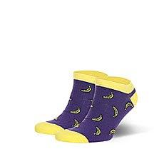Носки низкие Запорожец Банан Фиолетовые