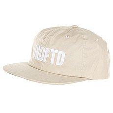 Бейсболка с прямым козырьком Undefeated Undftd Applique Strapback Cap Tan