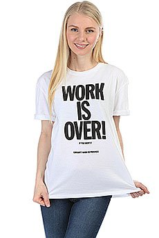 Футболка женская Carhartt WIP Work Is Over White / Black
