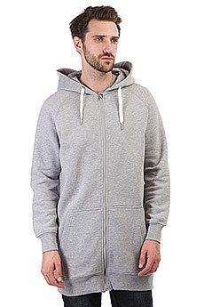 Толстовка классическая НИИ Long Zip Hoodie Темно-серая
