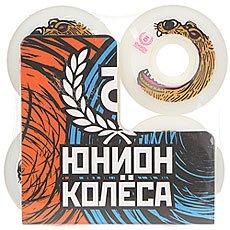 Колеса для скейтборда Юнион Bear Ф5 White/Brown 101A 52 mm
