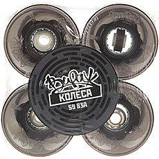 Колеса для лонгборда Вираж 83A 59 mm Black Led Red