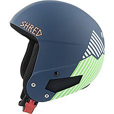 Шлем для сноуборда Shred Mega Brain Bucket Needmoresnow Navy Blue/Green