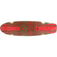 Дека для лонгборда Юнион Rose Red/Green 7.6 x 29.5 (75 см)