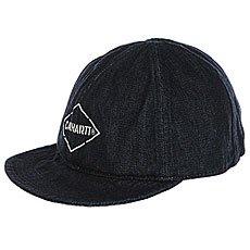 Бейсболка с прямым козырьком Carhartt WIP i022632 Blue Rinsed