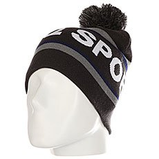 Шапка Le Coq Sportif Pompon Beanie Dark Heather Grey
