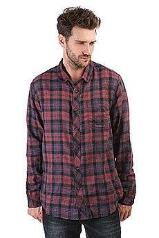 Рубашка в клетку Billabong Fremont Flannel Red Heather