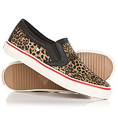 Слипоны женские British Knigths Jam Brown Leopard/Black/Red