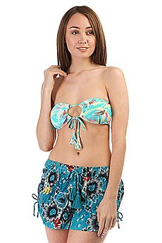 Бюстгальтер женский Billabong Paradise Foxy Band. Aqua Blue