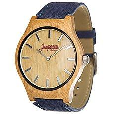 Кварцевые часы Запорожец Бамбук Синий