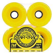 Колеса для лонгборда Kryptonics Star Trac Yellow 76A 70 mm
