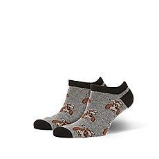 Носки низкие Запорожец Шарик Серый Меланж