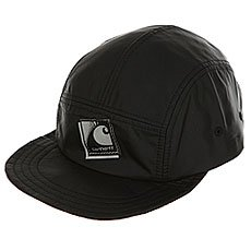 Бейсболка пятипанелька Carhartt WIP Packable Cap Black/Reflective Grey