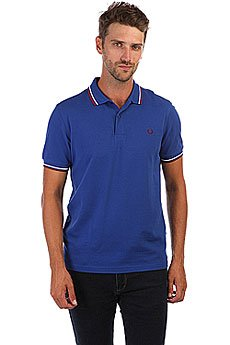 Поло Fred Perry Twin Tipped Blue