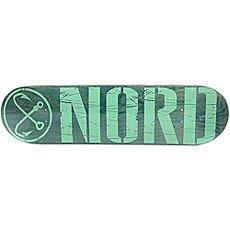Дека для скейтборда Nord Лого Green/Mint 32 x 8.25 (21 см)