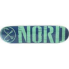 Дека для скейтборда Nord Лого Blue/Mint 31.75 x 8 (20.3 см)